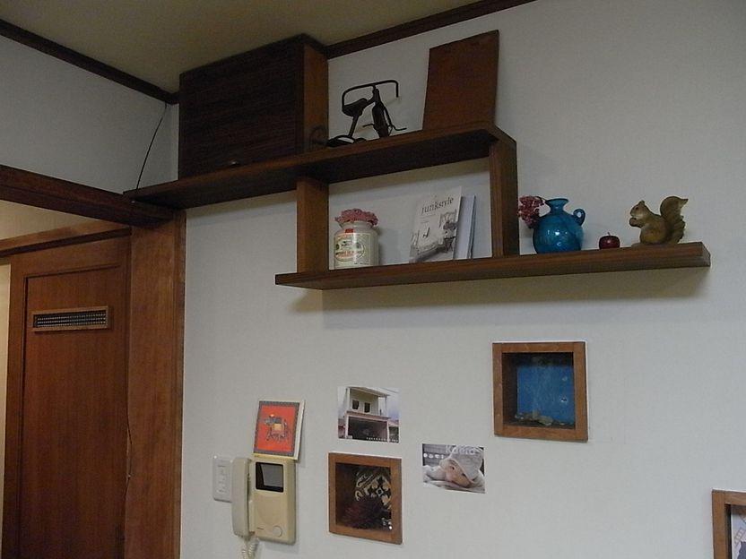 壁面 棚板 プチリフォーム 木工
