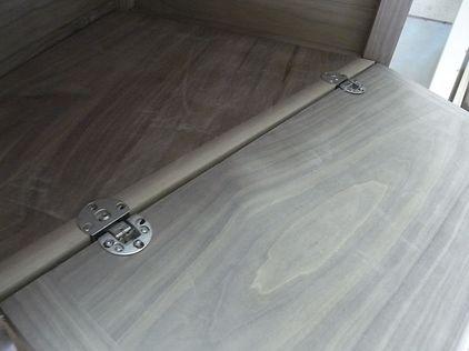 テレビボード 前開き扉 ドロップ丁番 ガレージ木工ブログ