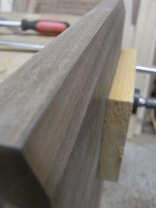 角面ビット ウォルナット 板材トリマー加工