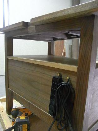 テレビボード 背面 電源コード DIY