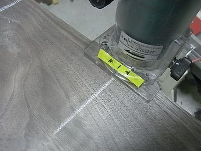 ウォルナット 板剥ぎ 横溝ビット