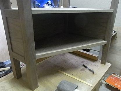 テレビ台 突き板 鏡板 1