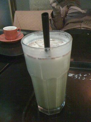 玄米抹茶ラテ