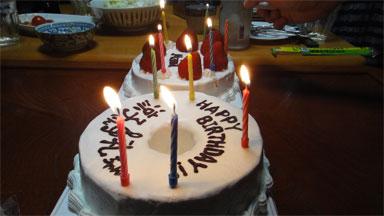 ローソクケーキ