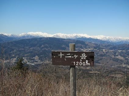 十ニケ岳からの谷川連峰