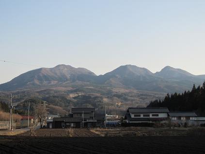 高山村からの小野子三山