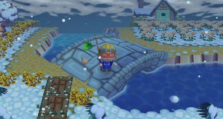 なかよし村最初の雪玉