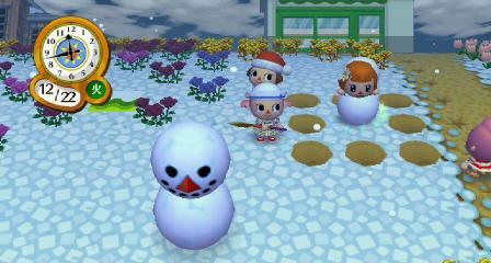 雪だるまに入る4