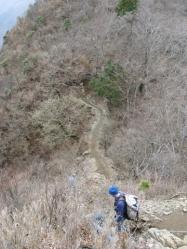 稜線 塔ノ岳