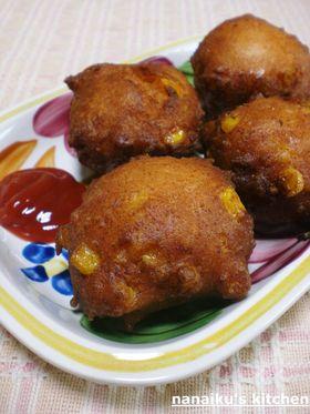 ふわふわ❤魚肉ソーセージとコーンの天ぷら