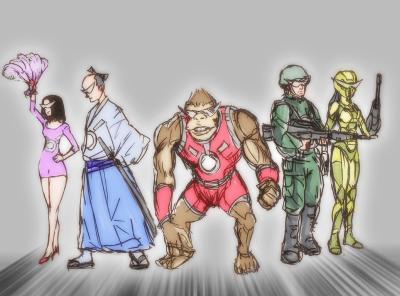 時代を超えた戦士たち