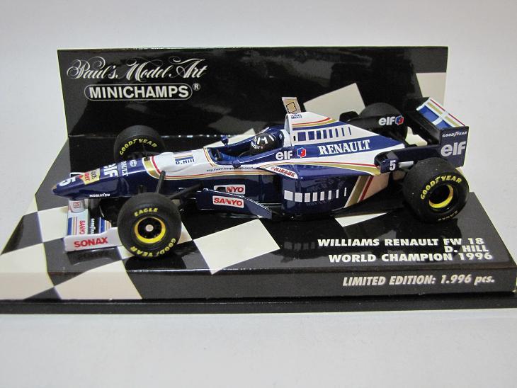 1996 ウィリアムズ・ルノー FW18 D.ヒル│勝手気ままにF1、語ります。