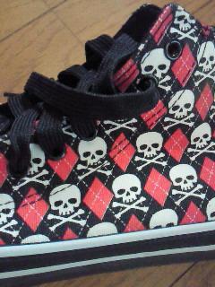 スカル靴アップ