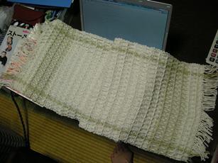 ワッフル織り
