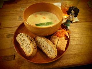スープおいしいのー