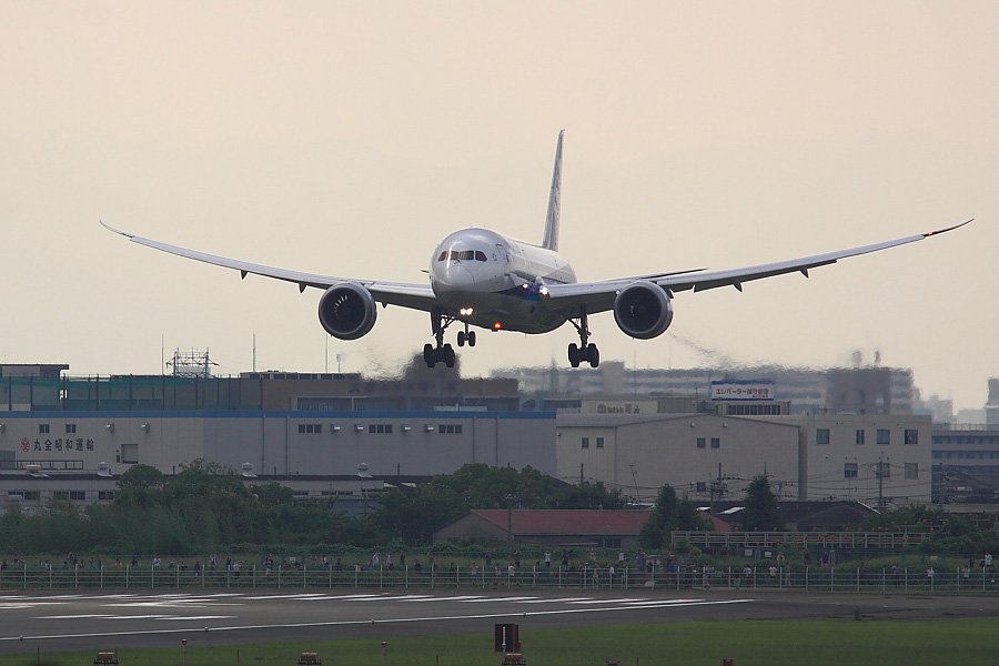 Boeing 787-83Q N787EX@伊丹スカイパーク(by EOS50D with SIGMA APO 300mm F2.8 EX DG/HSM + APO TC1.4x EX DG)