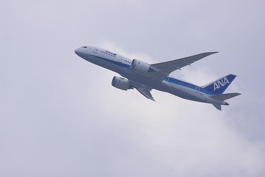 Boeing 787-83Q N787EX@瑞ヶ池公園(by EOS50D with SIGMA APO 300mm F2.8 EX DG/HSM + APO TC1.4x EX DG)