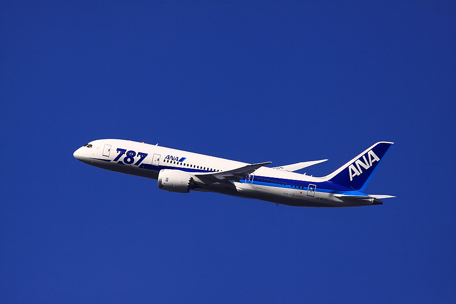 ANA B787-881 ANA30@瑞ヶ池公園(by EOS 50D with SIGMA APO 300mm F2.8 EX DG/HSM + APO TC1.4x EX DG)
