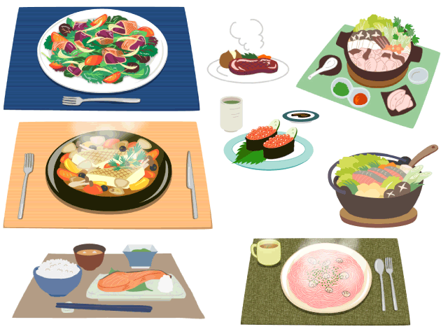 イラスト 料理 食べ物