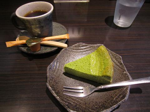 抹茶チーズケーキ&コーヒー