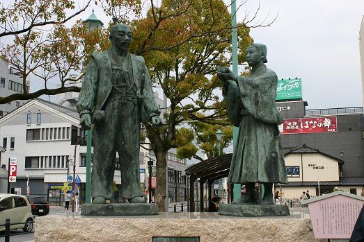 秀吉&三成の像