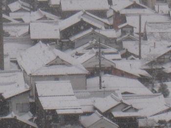 津和野の雪2