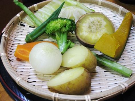 蒸鶏工房 白地商店 蒸し野菜