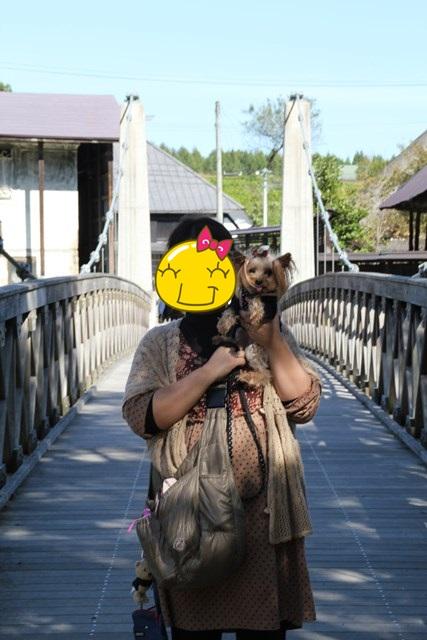 ママと吊り橋