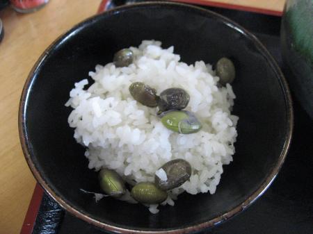 黒枝豆のご飯