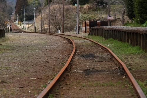小湊鉄道錆びたレール