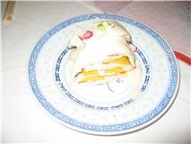 鶏とマンゴウのミルフィーユ