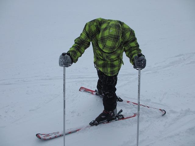 ゆに初スキー