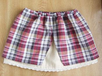 無料型紙 ギャルソン風2重スカート
