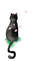 猫と桜アイコン