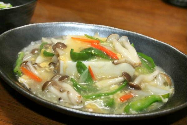 お豆腐の野菜あんかけ