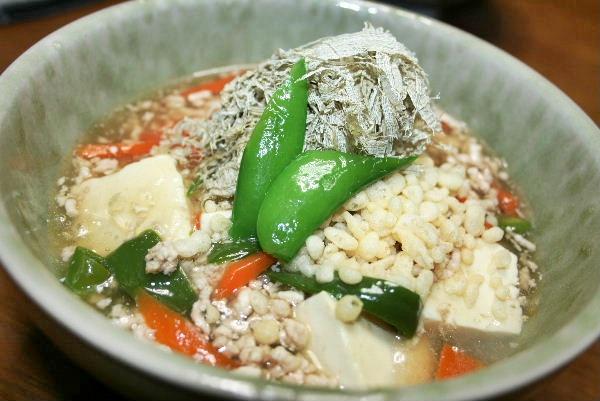 お豆腐と野菜のミンチ煮