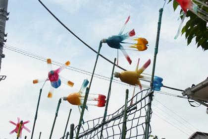 ペットボトルの風車