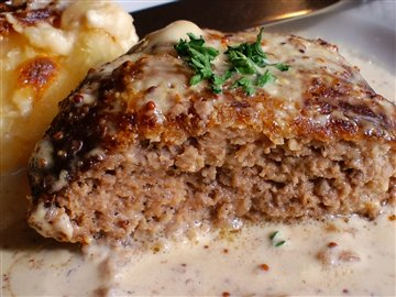 ハンバーグステーキ(種入りマスタードソース)