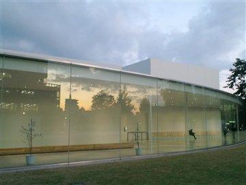 美術館と夕焼け