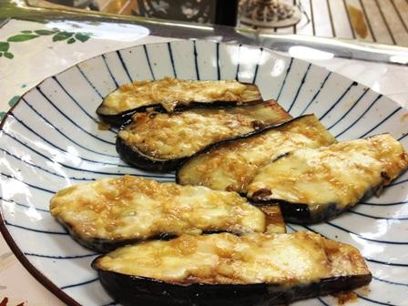 茄子の味噌チーズ田楽