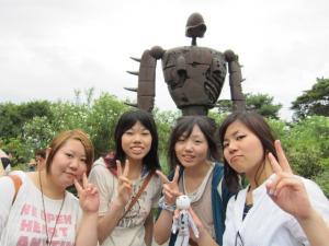 ロボット兵と記念撮影