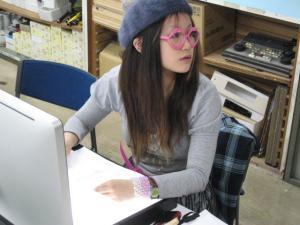 パソコンの操作を勉強しにきた時の写真