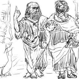 模写_プラトンとアリストテレス