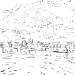 模写_シラクサオルティジア島