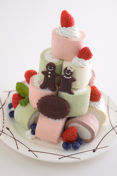 ロールケーキ タワー