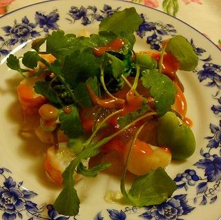 貝柱と春のお野菜