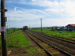 夏のストーブ列車運行(金木駅)