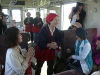 ミサオおばあちゃんの民謡披露