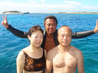 到着後ダイビング