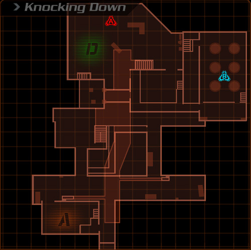 knocking down map